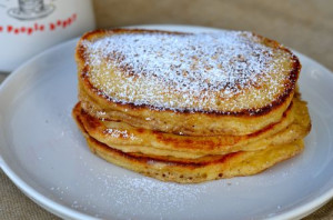 blog eggnog pancakes