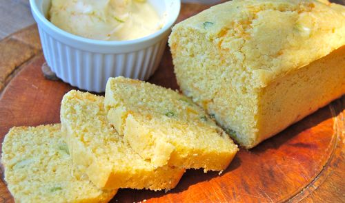 Scallion Cheddar Corn Bread with Lime Butter ...