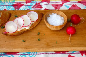 blog spring radish appetizer