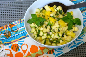 blog zuchini pineapple salsa
