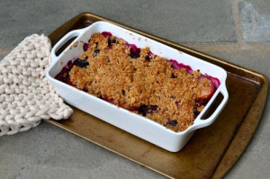 blog blueberry plum crumble