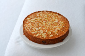 blog almond cake snow